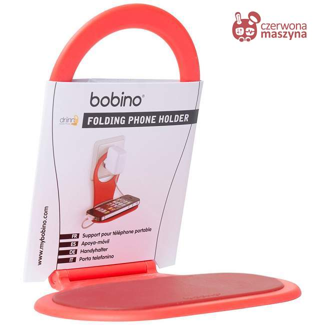 Półka na telefon Bobino składana, czerwona