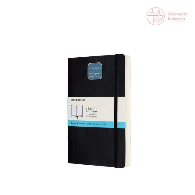 Notes Moleskine Classic L w kropki, twarda oprawa, 400 stron, czarny