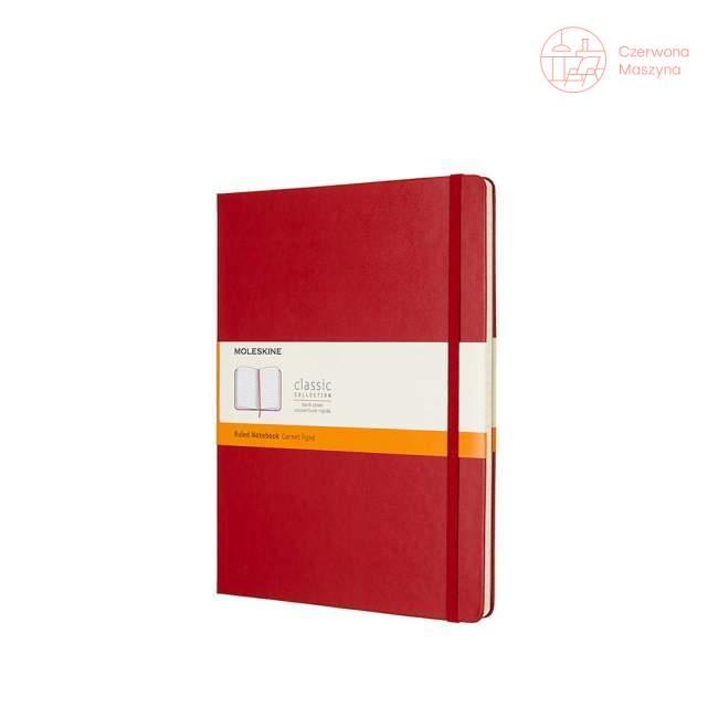 Notes Moleskine Classic XL w linie, twarda oprawa, 192 strony, czerwony