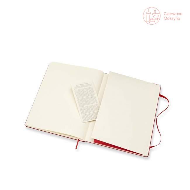 Notes Moleskine Classic XL w kropki, twarda oprawa, 192 strony, czerwony