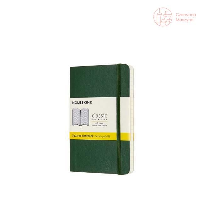Notes Moleskine P w kratkę, miękka oprawa, 192 strony, myrtle green