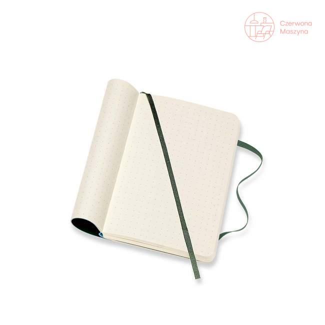 Notes Moleskine P w kropki, miękka oprawa, 192 strony, myrtle green