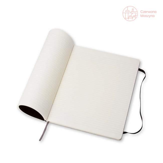 Notes Moleskine Classic XL w linie, miękka oprawa, 192 strony, czarny