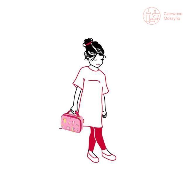 Torba termiczna na śniadanie Reisenthel Thermocase Kids abc friends pink