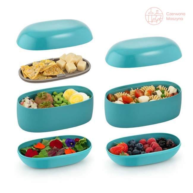 Lunch box Alessi Food Porter niebieski