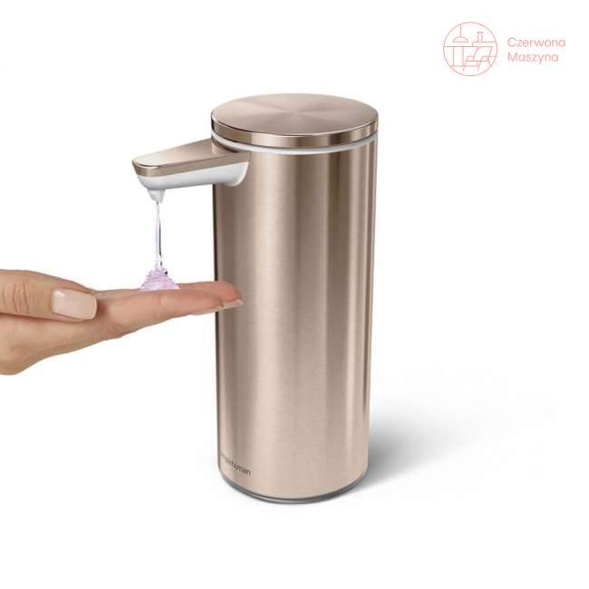 Dozownik bezdotykowy akumulatorowy Simplehuman 266 ml, różowe złoto