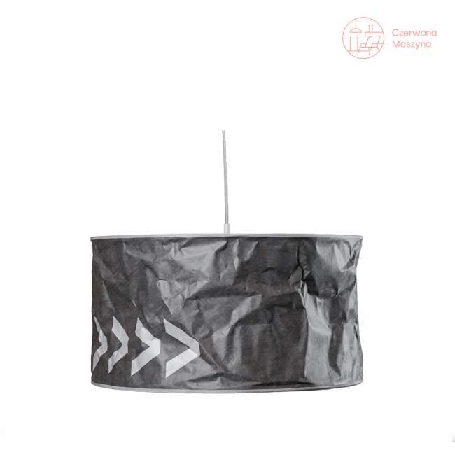 Lampa wisząca Kafti Signworks, ciemnoszaro-biała