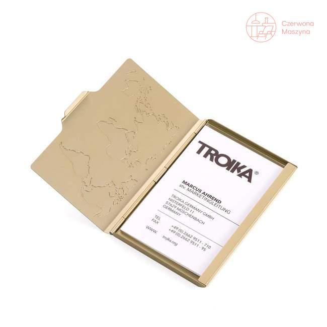 Wizytownik Troika Global Contacts złote