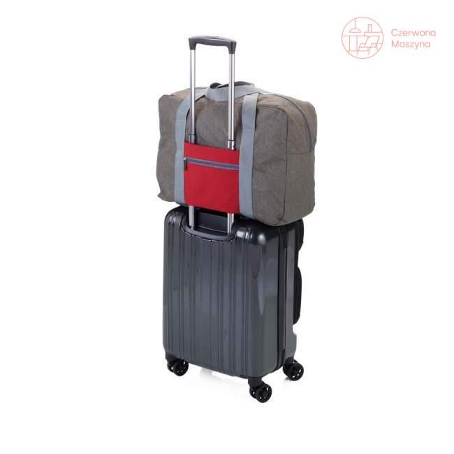 Torba podróżna Troika Travel Pack 24 l, szary/czerwony