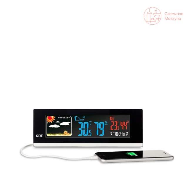 Elektroniczna stacja pogodowa ADE, czarna 21,5 cm