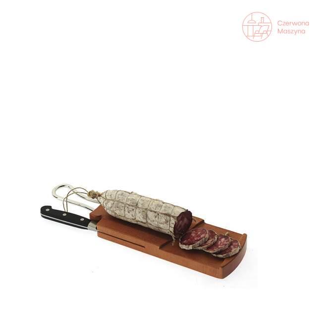 Deska do krojenia salami z nożem Taglieri Bugatti