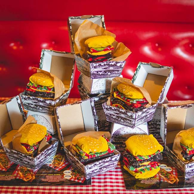 Skarpetki Rainbow Socks, burger 36-40 (S), Kto to kupi