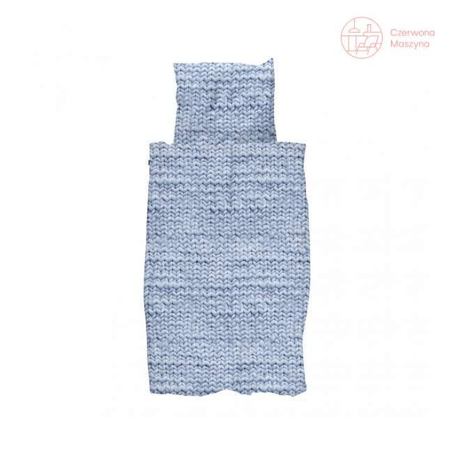 Pościel Snurk Twirre cotton niebieska, 135 x 200 cm