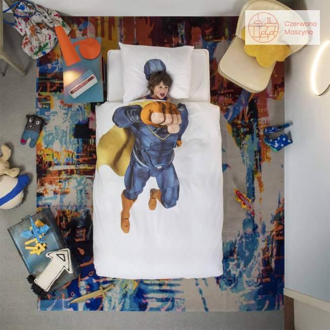 Pościel Snurk SuperHero 135 x 200 cm, niebieska
