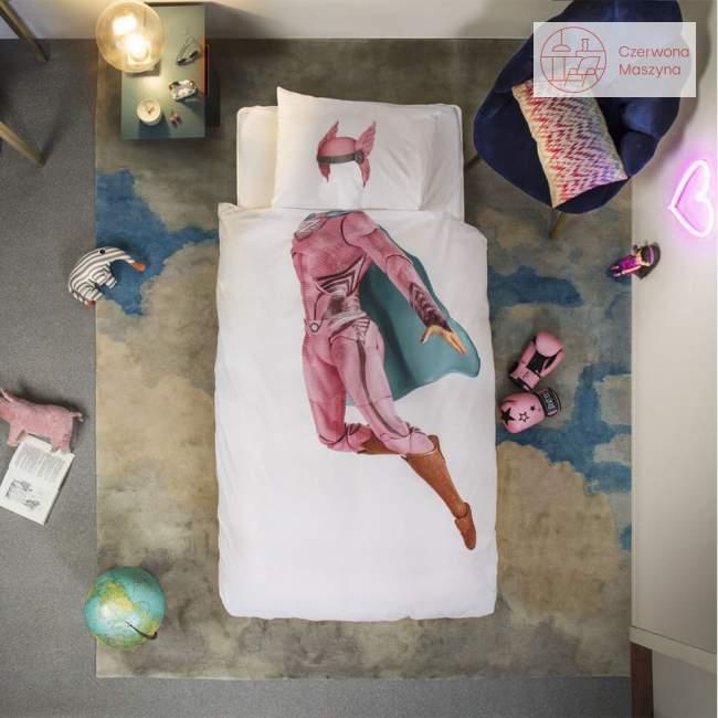 Pościel Snurk SuperHero 135 x 200 cm, różowa