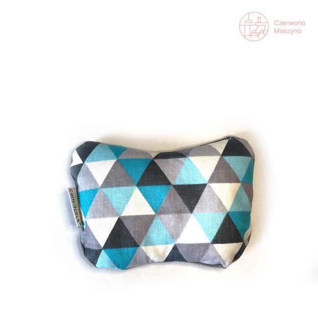 Poduszka pod nadgarstek Com4tclick, kto to kupi, biało-niebieska