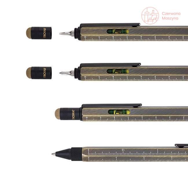 Długopis wielozadaniowy Troika Construction złoty