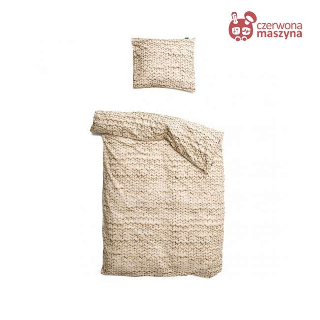 Pościel Snurk Twirre cotton, beżowa 135 x 200 cm
