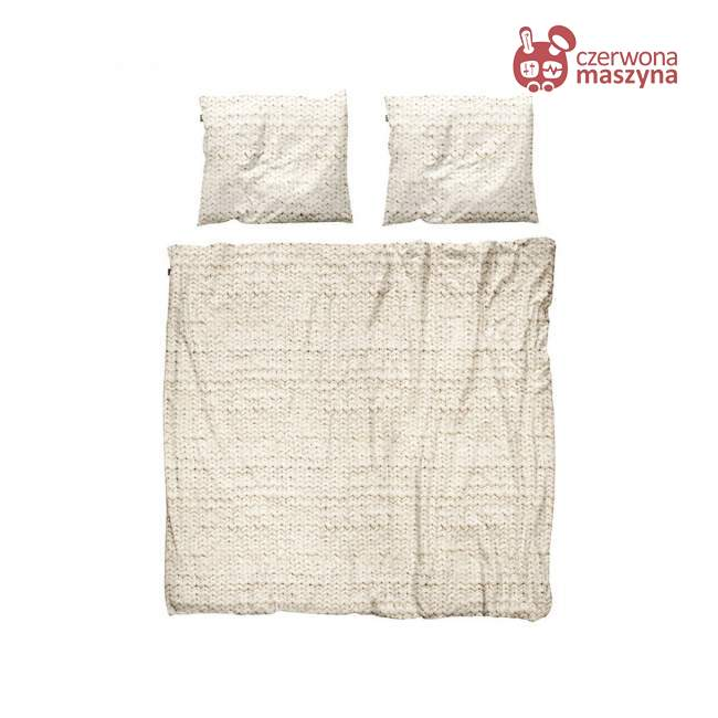 Pościel Snurk Twirre cotton, beżowa 200 x 200 cm