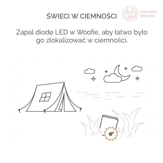 Woolet Woof Glow, inteligentny portfel, koniakowy Kto to kupi