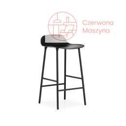 Krzesło barowe Normann Copenhagen Form 65 cm stal, czarne