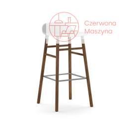 Krzesło barowe Normann Copenhagen Form 75 cm orzech, białe