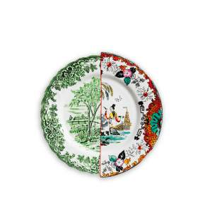 Talerz obiadowy Seletti Hybrid Ipazia Ø 27,5 cm