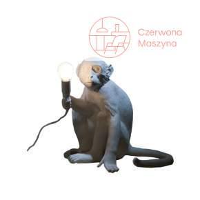 Lampa stołowa Seletti Monkey Sitting biała