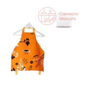 Fartuszek i czapka kucharska Zuzu Toys Pomarańczowe Ptaki 1 - 2 lata