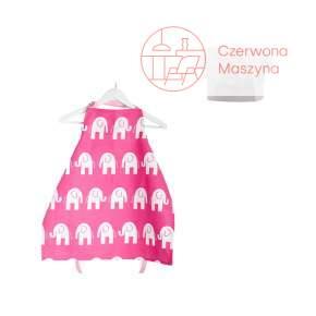 Fartuszek i czapka kucharska Zuzu Toys Różowe Słonie 1 - 2 lata