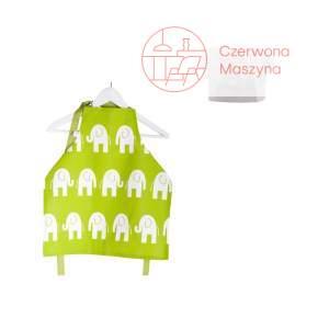 Fartuszek i czapka kucharska Zuzu Toys Zielone Słonie 1 -2 lata