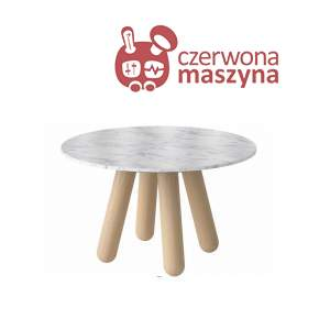 Stół marmurowy Bolia Balance, oiled oak