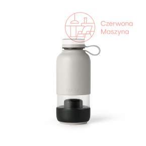 Butelka szklana z filtrem Lekue TO GO szara