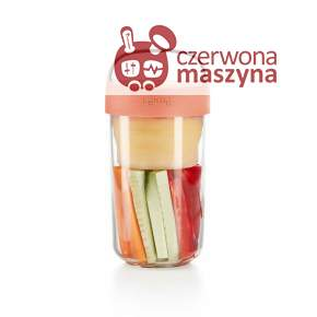 Pojemnik na lunch Lekue Jar to Go, róż 600 ml