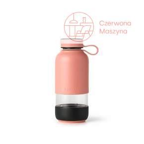 Butelka szklana Lekue TO GO różowa