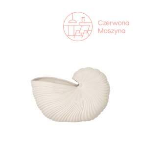 Doniczka / dekoracja ferm LIVING Shell, biała