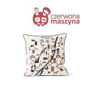 Poduszka dekoracyjna Ferm LIVING Copenhagen Cushion, multikolor