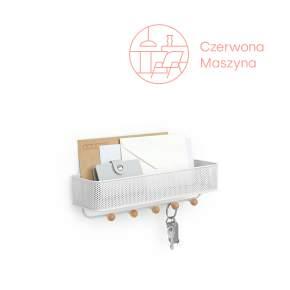 Wieszak na klucze i półka na listy Umbra Estique biały