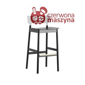 Krzesło barowe Woud Pause 75 cm, czarne