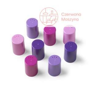 8 Pojemniczków do soli i pieprzu Authentics Eiko różowo - fioletowe