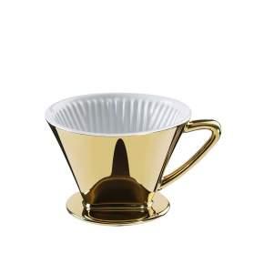 Filtr do kawy Cilio rozmiar 4, Ø 14 cm, złoty