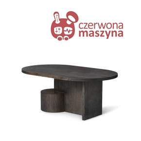 Stolik kawowy ferm LIVING Insert, black stained ash