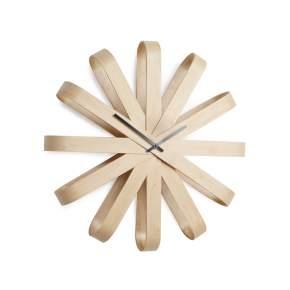 Zegar ścienny Umbra Ribbon drewniany Ø 51 cm, drewniany