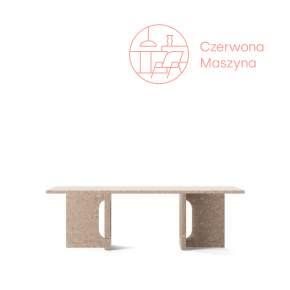 Stół Menu Androgyne 120x45 cm, Natural Oak/kamień Kunis Brescia