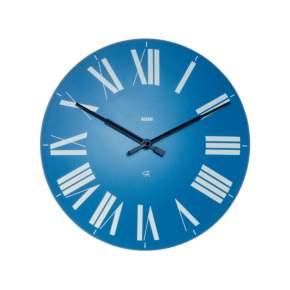Zegar ścienny Alessi Firenze Ø 36 cm, niebieski