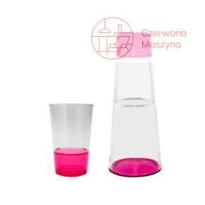 Karafka 1 l i szklanka Zak! designs Fizz różowe
