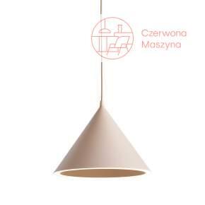 Lampa wisząca Woud Annular, jasnoróżowa