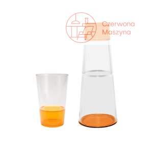 Karafka 1 l i szklanka Zak! designs Fizz pomarańczowe