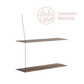 Półka Woud Stedge 2.0 80 cm, ciemne drewno