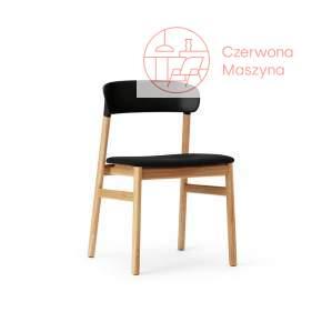 Krzesło tapicerowane Normann Copenhagen Herit oak black